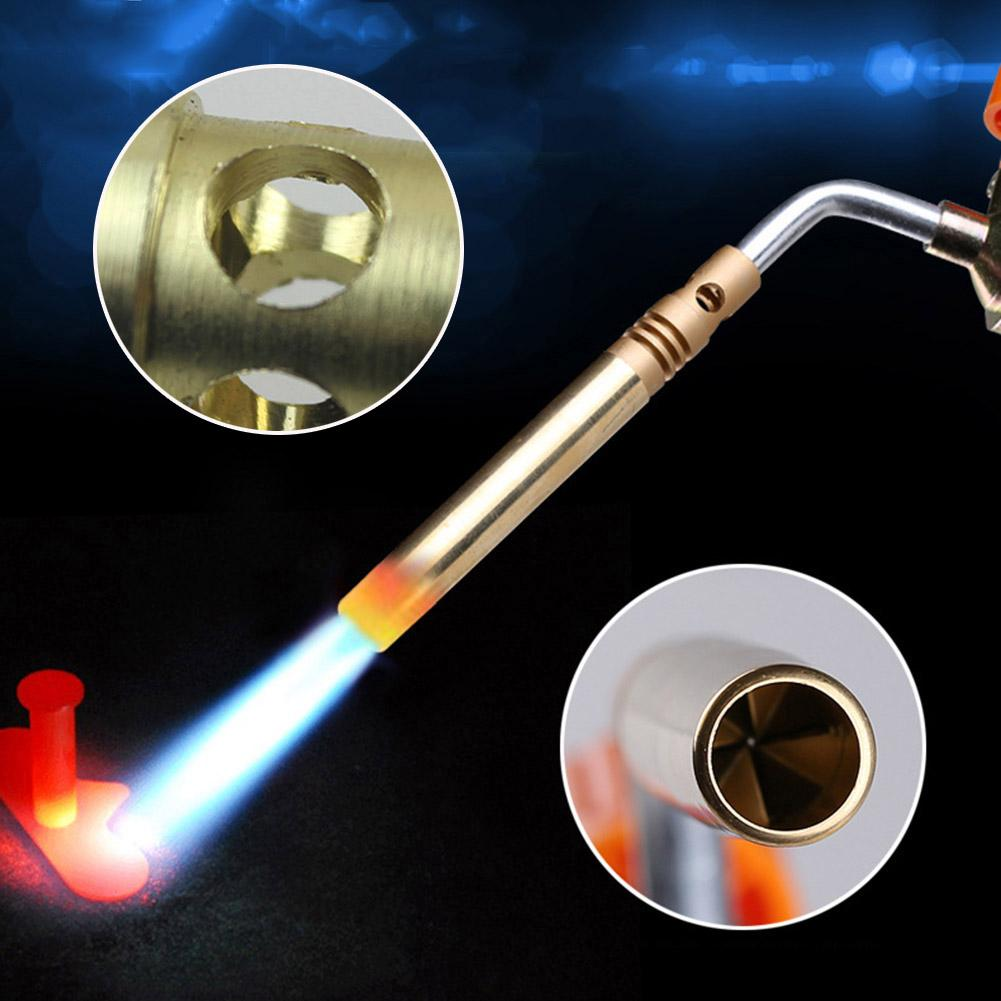 Outdoor Butane Flame Welding Torch Jet Burner Barbecue Baking Nozzle Camping Picnic Heating Nozzle Barbecue Flamethrower