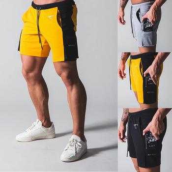 Hot 2020 najnowsze letnie wygodne szorty męskie modna bawełniana styl męskie szorty bermudy spodenki plażowe męskie wielofunkcyjne szorty z kieszeniami M-XXXL tanie i dobre opinie CN (pochodzenie) Na co dzień 125562 COTTON Troczek Patchwork REGULAR