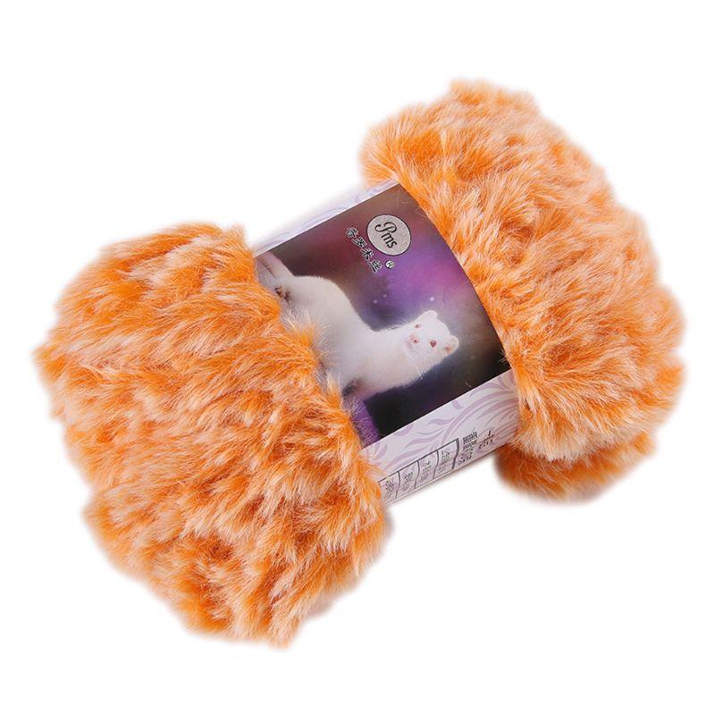 50g/Ball DIY Fluffy Plush Chunky Knitting Yarn Hand-Woven Crochet Velvet Thread LX9E