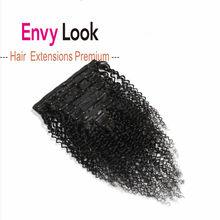 Envy Look colore naturale Afro Kinky 8 pezzi Per Set 17 Clip macchina Remy estensioni dei capelli umani brasiliani Clip-in Per donne nere
