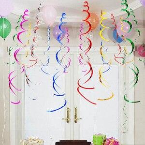 Image 4 - 6 個 pvc スパイラルペンダント 18 21 30 40 50 60 70 歳多機能誕生日パーティーの装飾スパイラル装飾品