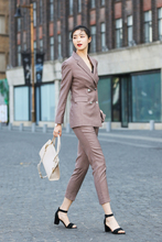 JRHYME NEW Women`s Blazer Trouser Vest, Long Sleeves Lightweight Casual Office Three Pieces Set Suits Pants Vest In Khaki