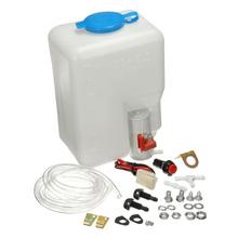 Uniwersalna myjnia samochodowa zestaw zbiornika na butelkę pompa 12V 1 8L wycieraczka szyby przedniej tanie tanio KKMOON Brak Myjni samochodowej