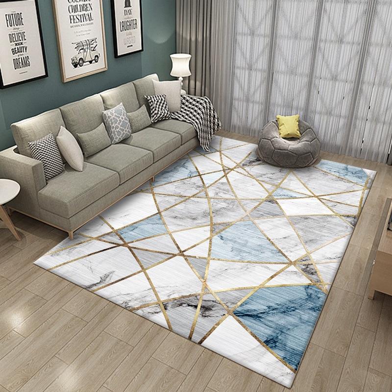 Nordic Marble Carpet For Living Room Area Rugs Anti Slip Badroom