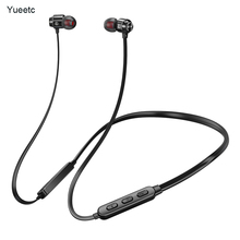 V5.0 Bluetooth earphone sports wireless headphones running Handsfree metal phone headset with Mic for Samsung S8 Xiaomi 9 haoxian wireless bluetooth headphones waterproof stereo sports running earphone handsfree headset with hd mic for phone