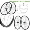29er mtb углеродное волокно колеса Углеродные горные колеса через ось 30 мм ширина 23 мм Глубокая бескамерная mtb 29 диски