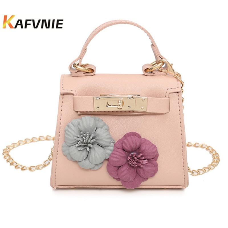 New Hot Fashion Square Girls Messenger Bag For Children's PU Leather Crossbody Shoulder Bag Handbags Flap Bags High Quality