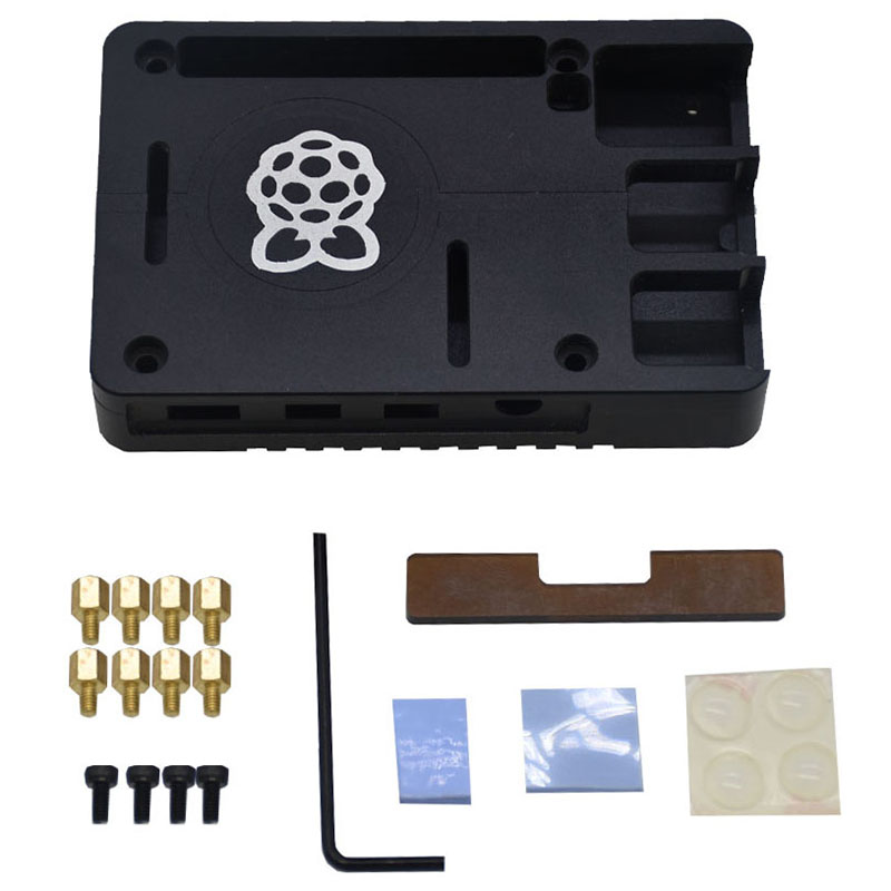 Ultra-Thin CNC Aluminum Alloy Metal Case / Passive Cooling Enclosure Box for Raspberry Pi 4 Model B Only