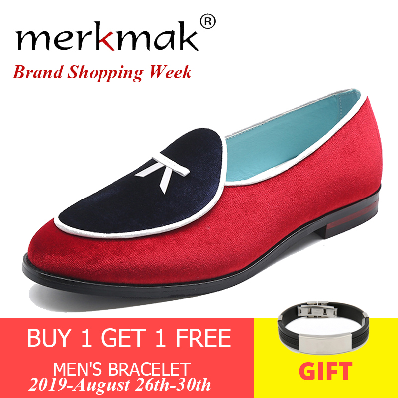 Merkmak Dress-Shoes Suede-Loafers Velvet Comfortable Flat Men's Casual Summer New Male