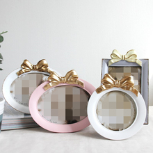 Lovely Bow Photo Frame Creative Picture 4/5/6/7/8 Inch On Tabletop Home Decor Resin Frames Decoration Cadre