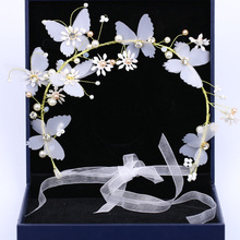 New flower butterfly hair accessories wedding bridal accessories wreath headdress