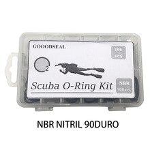 GD166PCS Scuba Diving O-Ring Kit With Pick Set 12 Sizes NBR90 FKM90 Dive Hose Tank Valve Regulator Sealed ORings Swimming