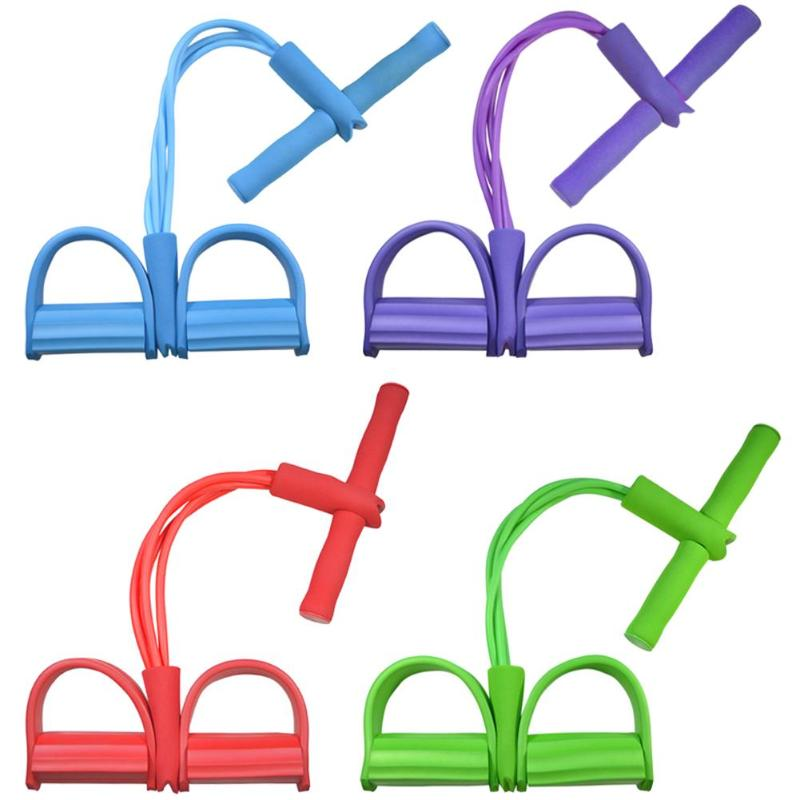 Multi Function Tension Rope Strong Fitness Resistance Bands Latex Pedal Women Men Sit Up Pull Ropes Yoga Fitness Equipment