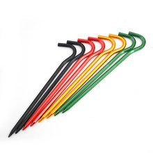10 Pcs18cm Tent Peg Stake Pin Nail Tent Pegs Aluminum Alloy Tent Pegs Nails Outdoor Nails Tent Accessories