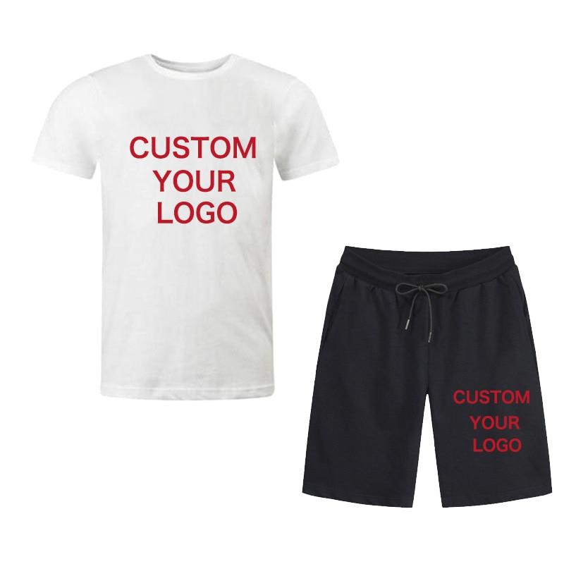 Summer Men/'s 2pcs Tracksuits T Shirt Short Sleeve Shorts Sets Sport Suits New