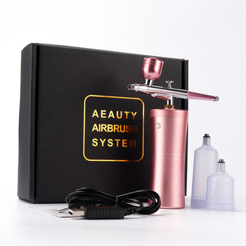 0.4mm Nozzle Single Action Airbrush with Compressor Kit Air-Brush Paint Spray Gun for Cake Tattoos Nail Tools Set Spray Tools eu plug dual action mini airbrush with compressor cake decoration 100 250v with airbrush cleaning set and mini air filter