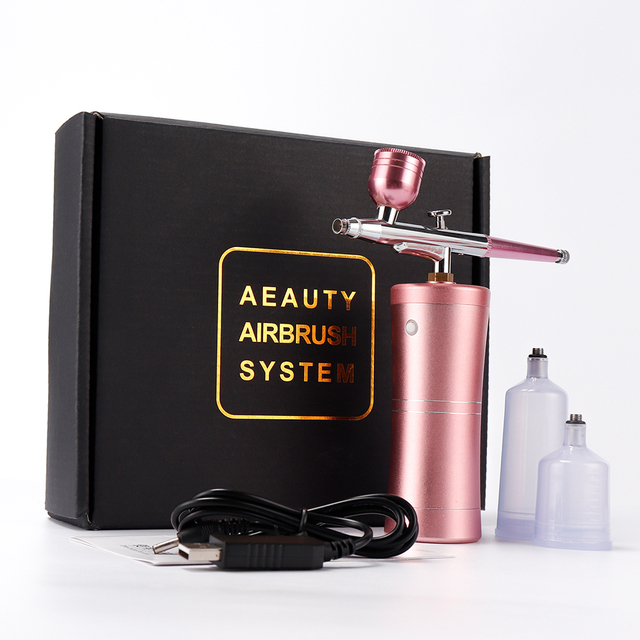 0.4mm Nozzle Single Action Airbrush with Compressor Kit Air Brush Paint Spray Gun for Cake Tattoos Nail Tools Set Spray Tools