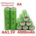 1,5 V новый бренд AA перезаряжаемая батарея 4000mAh 1,5 V Новая Щелочная аккумуляторная батарея для led светильник игрушка mp3 Бесплатная доставка