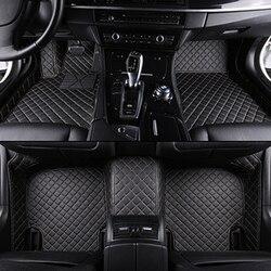 Alfombrillas de coche personalizadas para mercedes w212 todos los modelos w204 w205 cla amg w245 glk gla gle gl x164 vito alfombrillas de cuero para automóvil Accesorios