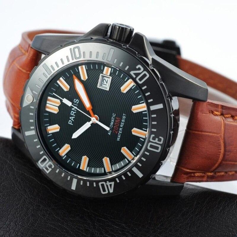 Parnis Automatische Diver Horloge Waterdicht 200 M Metalen Mechanische Mannen Horloges Saffier Glas Lichtgevende - 2