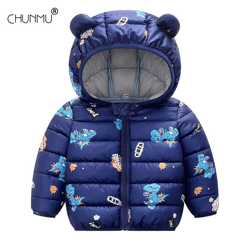 Baby Coat Girls Winter Jackets For Children Spring Autumn Outerwear Hooded Infant Coats Newborn Clothes Kids Cartoon Snowsuit