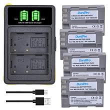 Batterie Li-ion Rechargeable EN EL3e 4 pièces x 1800mAh EN-EL3E, avec chargeur USB, pour Nikon D70 D70S D80 D90 D100 D200 D300 D300S D700