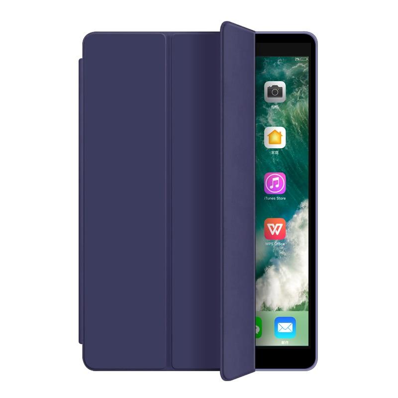 Navy Blue Beige Utrl Slim Trifold Coque for iPad 7th iPad 10 2 Case Smart A2200 A2198 A2233 Auto