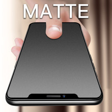 No Fingerprint Full Cover Matte Tempered Glass for iPhone 11 pro MAX XS 8 7 6S Plus Screen Protector Frosted Glass for XR SE2020