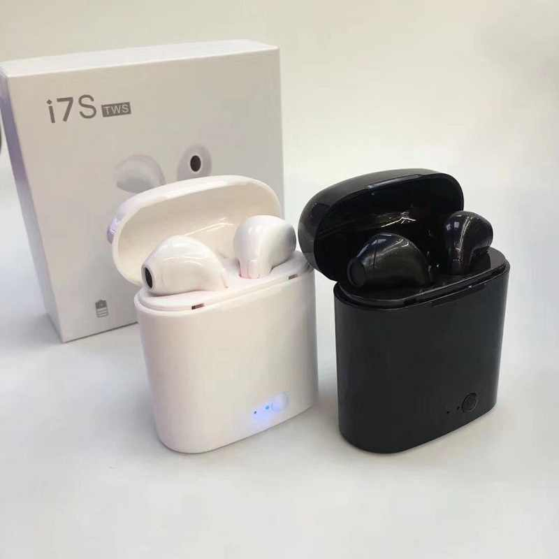 i7s Bluetooth earphone Wireless Earbud TWS headphone with Charge & paper box for Apple Xiaomi earphones Bluetooth Headset on air