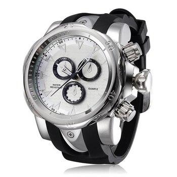 SH-8110 Ɯ�名なブランドビッグダイヤル男性クォーツ腕時計ラバーローズゴールド男性の腕時計高級メンズ Relojios