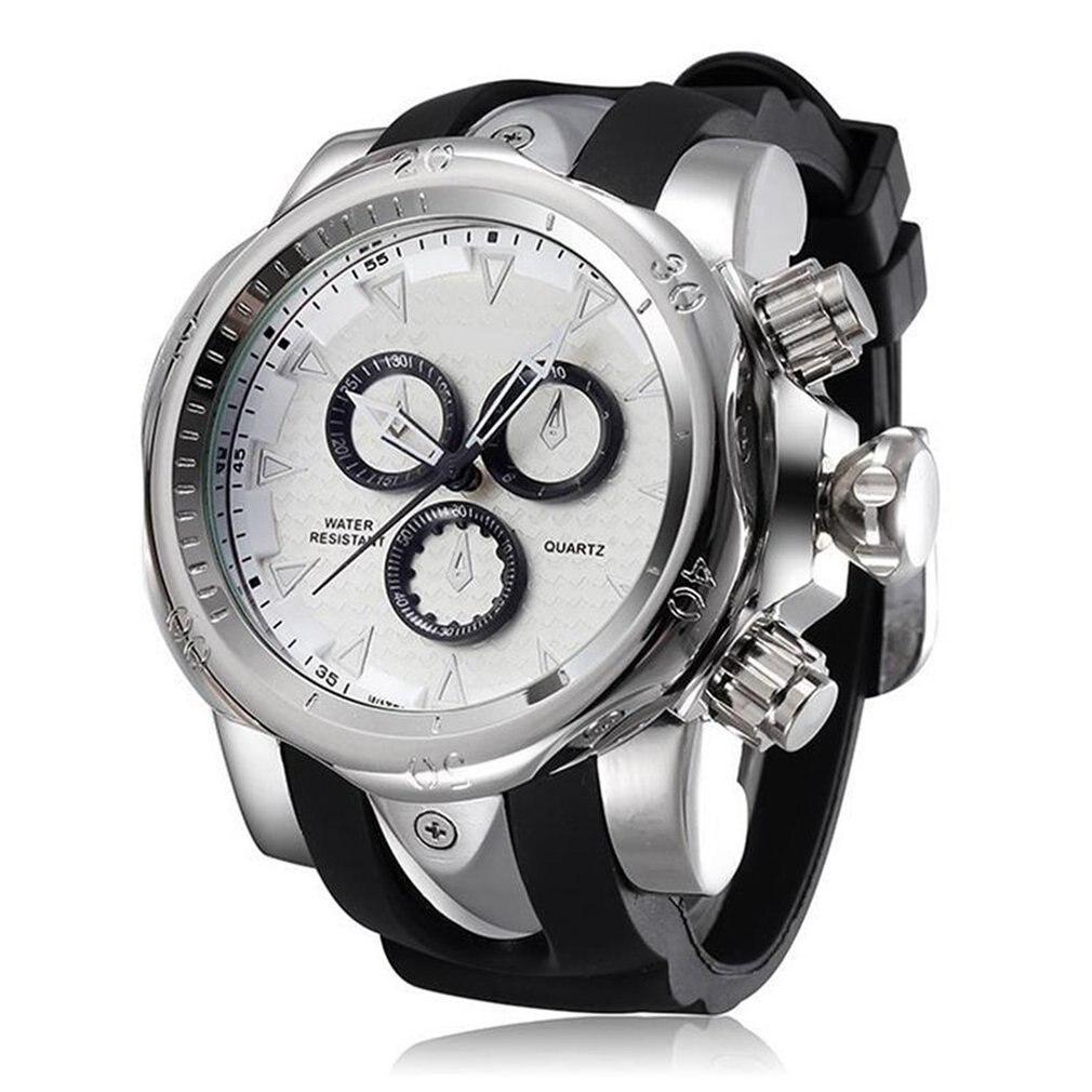 SH-8110 Famous Brand Big Dial Watch For Men Quartz Big Face Watches Rubber  Rose Gold Men's Wristwatch Luxury Mens Relojios