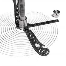 Regla de dibujo multifuncional, transportador de mapa magnético, herramientas de costura, círculos, brújula, curva, medida, patrones, suministros para estudiantes