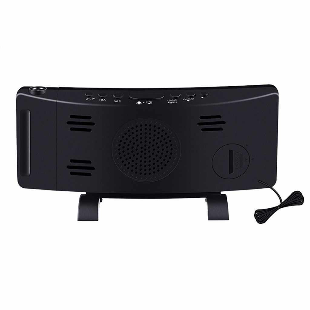 プロジェクションアラーム時計デジタル時計 FM usb デュアルアラームスイッチング 3 色 2019 高品質のサポート卸売ドロップシッピング