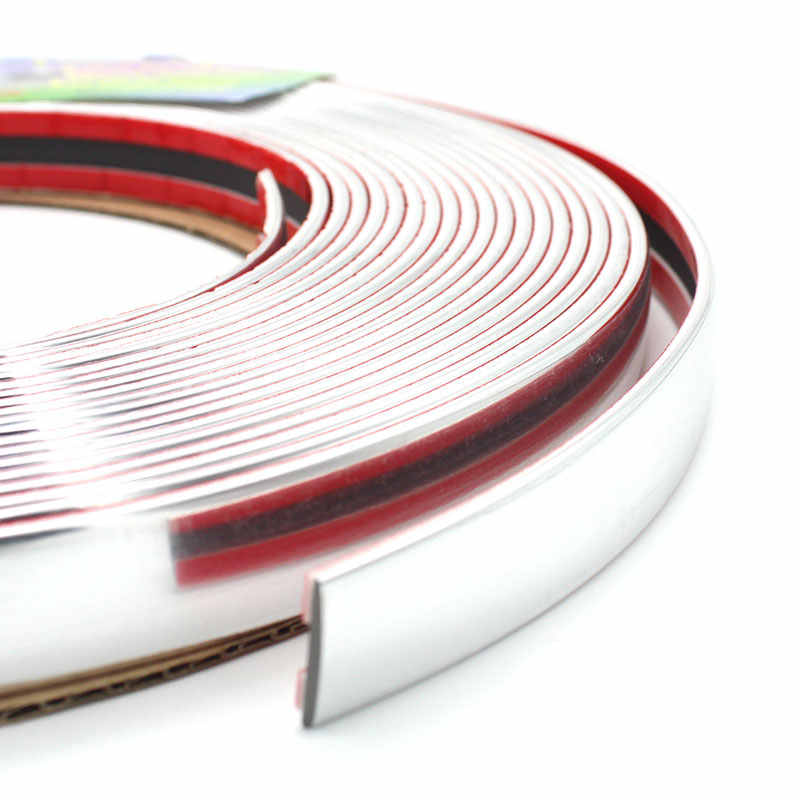 6Meters x 4/6/8/10/12/15/18/20/25/30mm Silver Chrome Molding Trim Car Door Protector Strips Window Mirror Bumper Anticollision