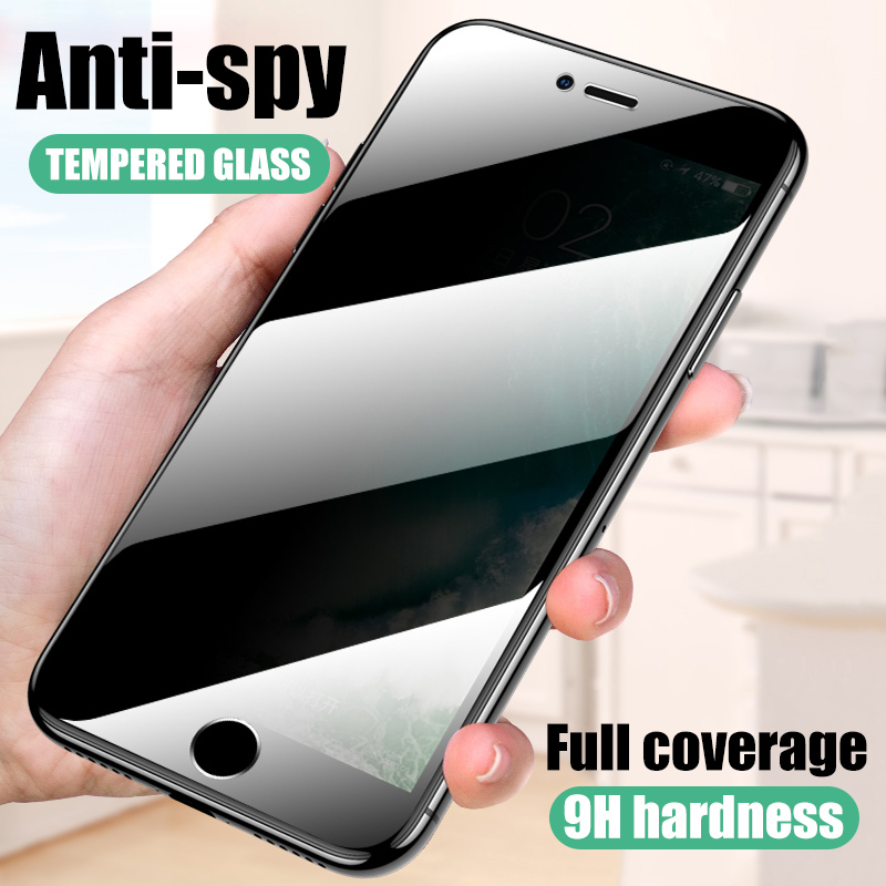 Peeping Anti Spy Protective Glass on the For iPhone X XR XS 11 Pro Max screen protector For iPhone 7 8 6 6S Plus SE 2020 Glass