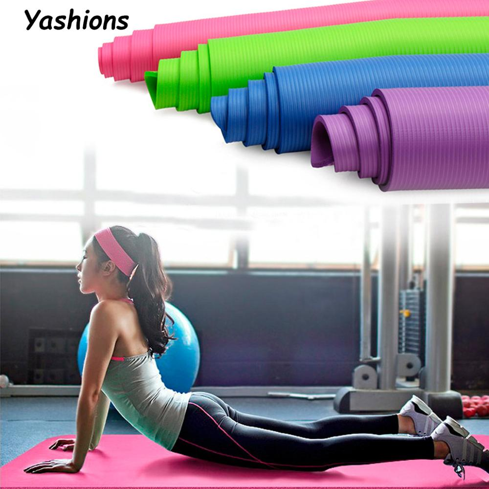 TPE Yoga Mat with Position Line Non Slip Carpet Mat For Beginner Environmental Fitness Gymnastics Mats 1830*610*6mm