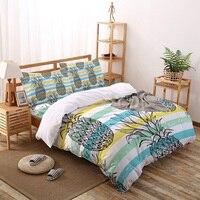 Strisce linee di ananas Set di biancheria da letto per la casa Set copripiumino lenzuola lenzuola lenzuola Queen King Size Qulit Covers