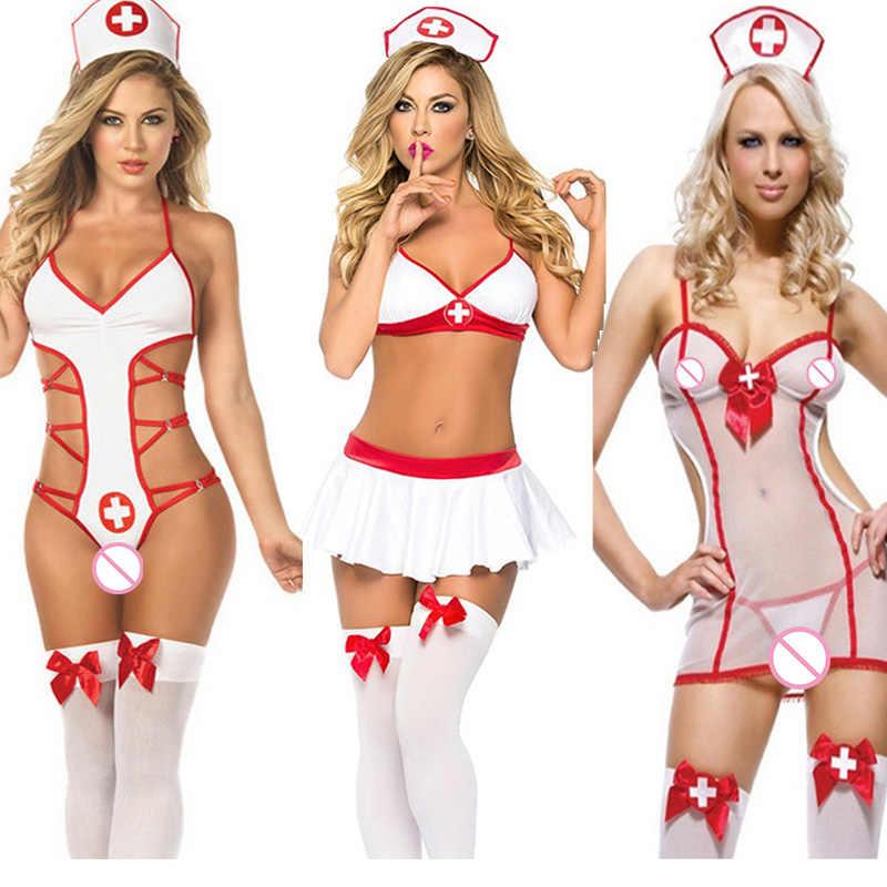 Producten Voor Volwassenen Porno Lingerie Cosplay Nurse Uniform Kostuums Handboeien Speeltjes Voor Vrouw Erotische Goederen Bdsm Bondage