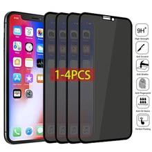 1-4 pces privacidade vidro temperado protetor de tela para iphone 12 11 pro 6 6s 7 8 mais anti-spy vidro no iphone xs max x xr
