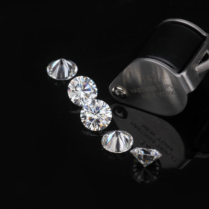 Round FOREVER BRILLIANT Cut 0.5ct Carat D Color Moissanites Loose Stone Diamond ring jewelry bracelet material high quality