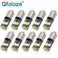 Gfoloza 10 шт. T4W Ba9s светодиодный ные лампы белого цвета 4014 15-SMD T11 H6W Светодиодная лампа для освещения салона автомобиля светодиодные лампы для вн...