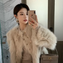 Coat Fur Fox-Fur Silver Fashion New Haining And Foreign-Style Female Young