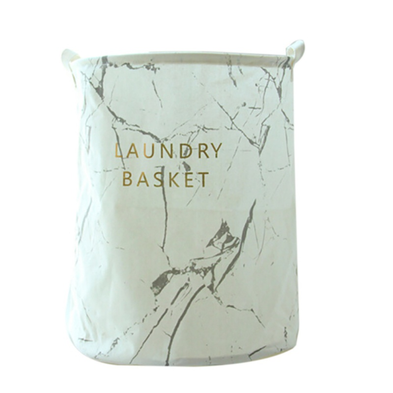 Big deal Collapsible Clothes Store Marble Pattern Dirty Clothes Children Toy Storage Laundry Storage Basket White Laundry Baskets     - title=