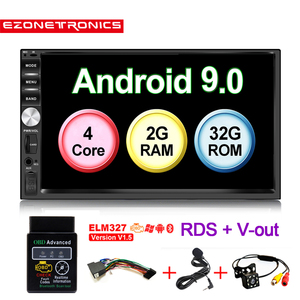 Image 1 - Auto OBD2 7inch Android9 Quad Core 2G+32G Universal 2Din no dvd  Car Audio Stereo GPS Navigation Radio Kits Car Multimedia play