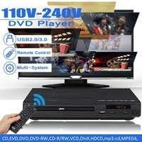 Multi System 1080P DVD Player Portable USB 2.0 3.0 DVD Player Multimedia Digital DVD TV Support HDMI CD SVCD VCD MP3 Function