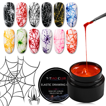 5ml Spider Gel Creative Wire Drawing Nail Gel Lacquer Point To Line Pulling Silk Spider Gel Polish Painting Nail Tips Manicure