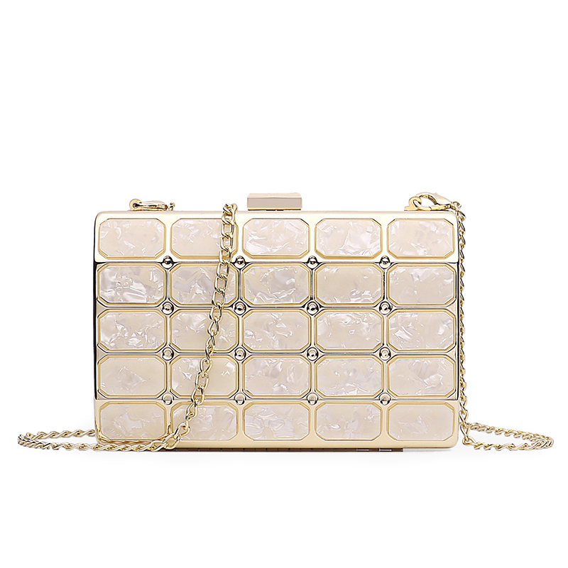Femmes sac mode dames dîner embrayage 2019 nouvelle haute qualité marbre épissage chaîne petit sac carré diagonale paquet bolso mujer