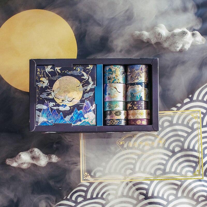 20Pcs/Set Peach Blossom Washi Tape Lipstick Phone Decor Masking Tape Journal Planners Stickers School Supplies