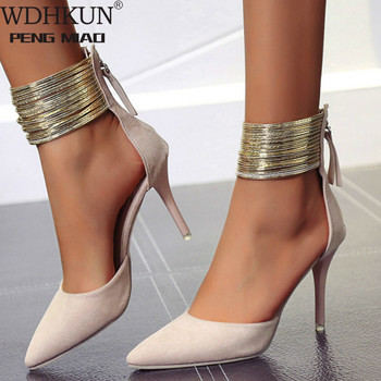WDHKUN 2020 Women Sandals Ankle High Thin Heels Pointed Toe Lace-up Party Wedding  Design Summer Women Shoes
