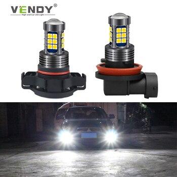 цена на 1x Car LED Fog Light Lamp Bulb H8 H11 H16 9006 HB4 HB3 H10 PSX24W P13W Auto DRL For vw polo sedan 6r 9n jetta mk6 6 sharan cruze